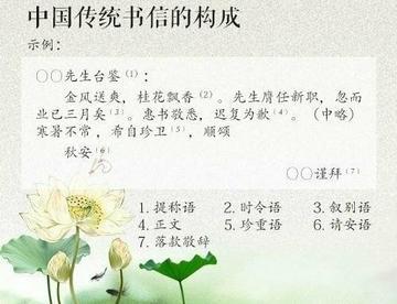 ?中国传统书信用语